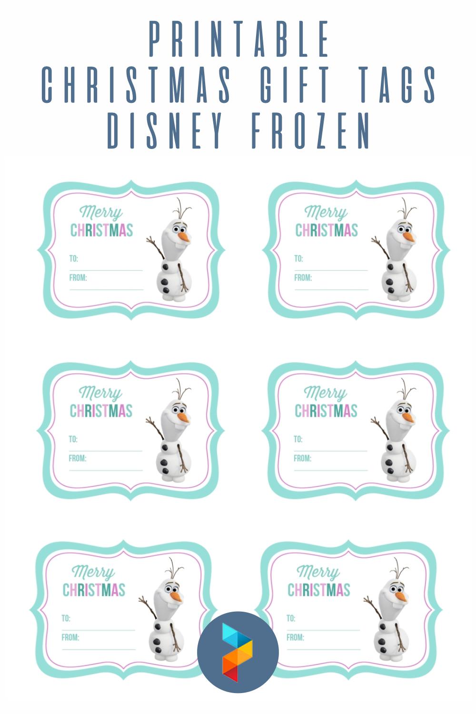 Printable Christmas Gift Tags Disney Frozen