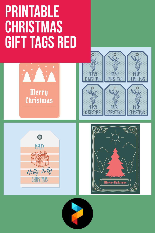Printable Christmas Gift Tags Red