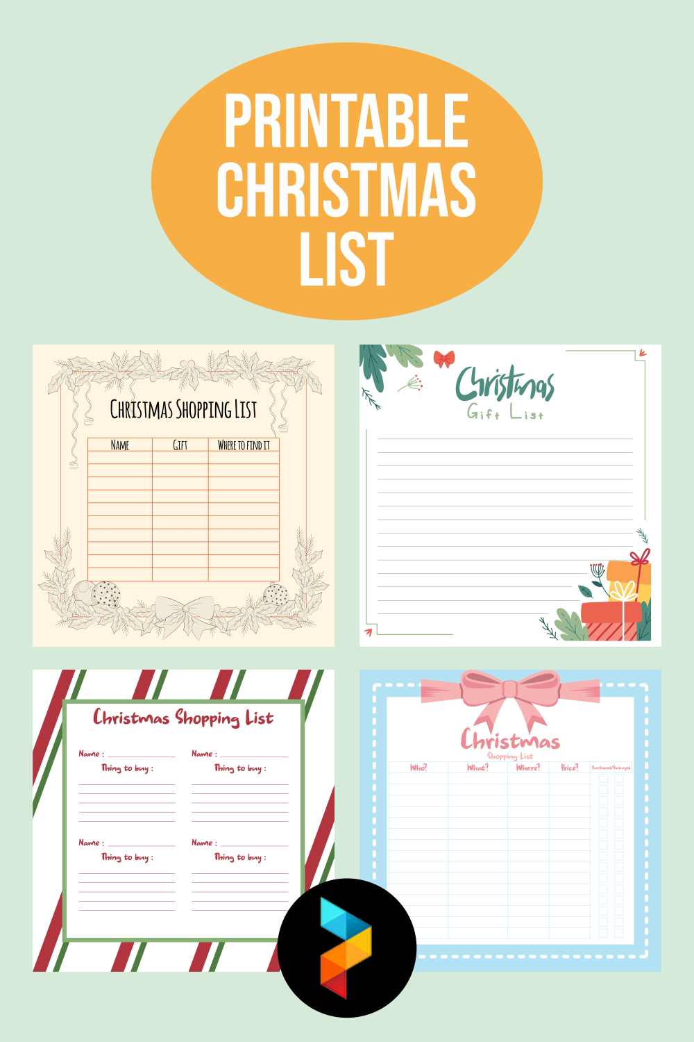Printable Christmas List
