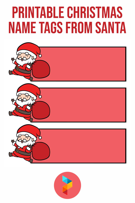 Printable Christmas Name Tags From Santa