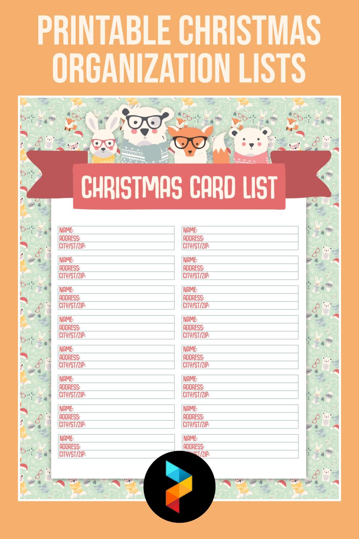 Printable Christmas Organization Lists