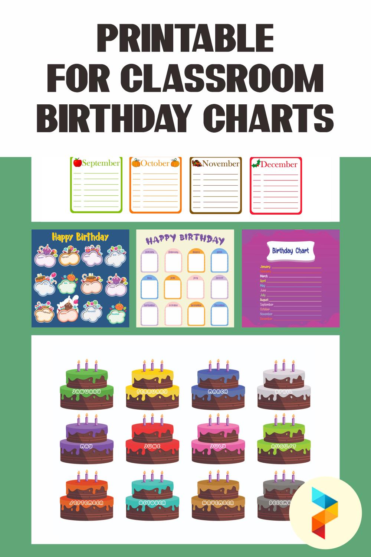 Printable For Classroom Birthday Charts