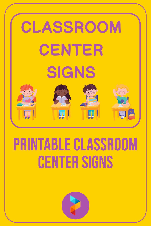 Printable Classroom Center Signs