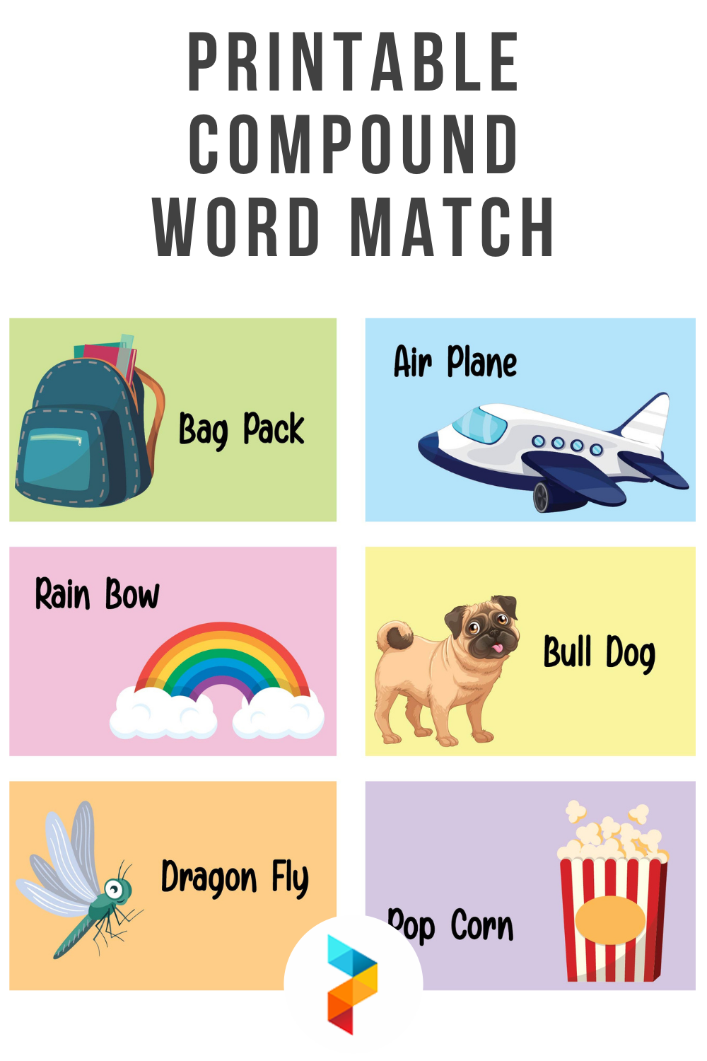 Printable Compound Word Match