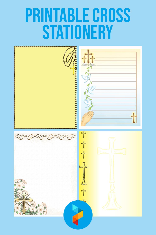Printable Cross Stationery