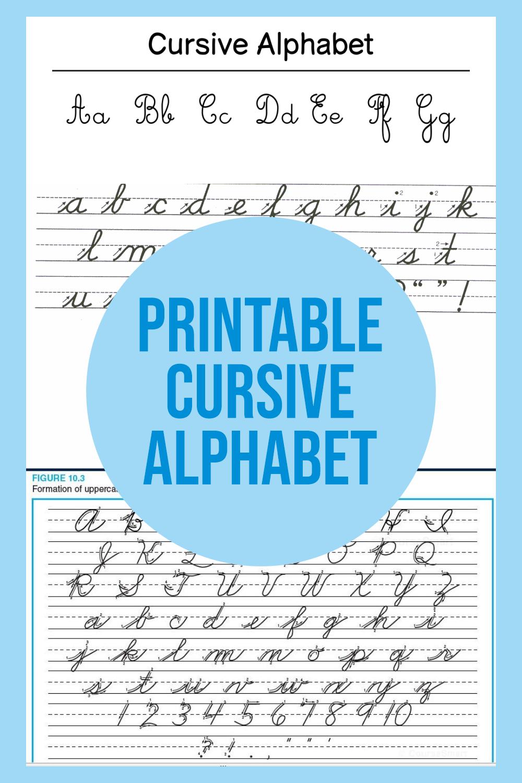 Printable Cursive Alphabet
