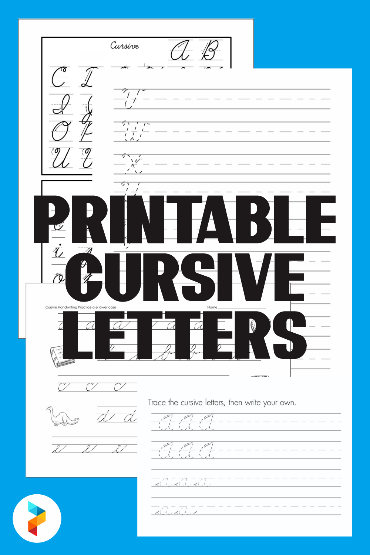 10 Best Free Printable Cursive Letters Printablee Com