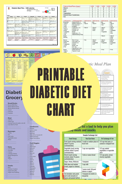 Printable Diabetic Diet Chart