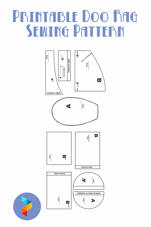 Printable Doo Rag Sewing Pattern