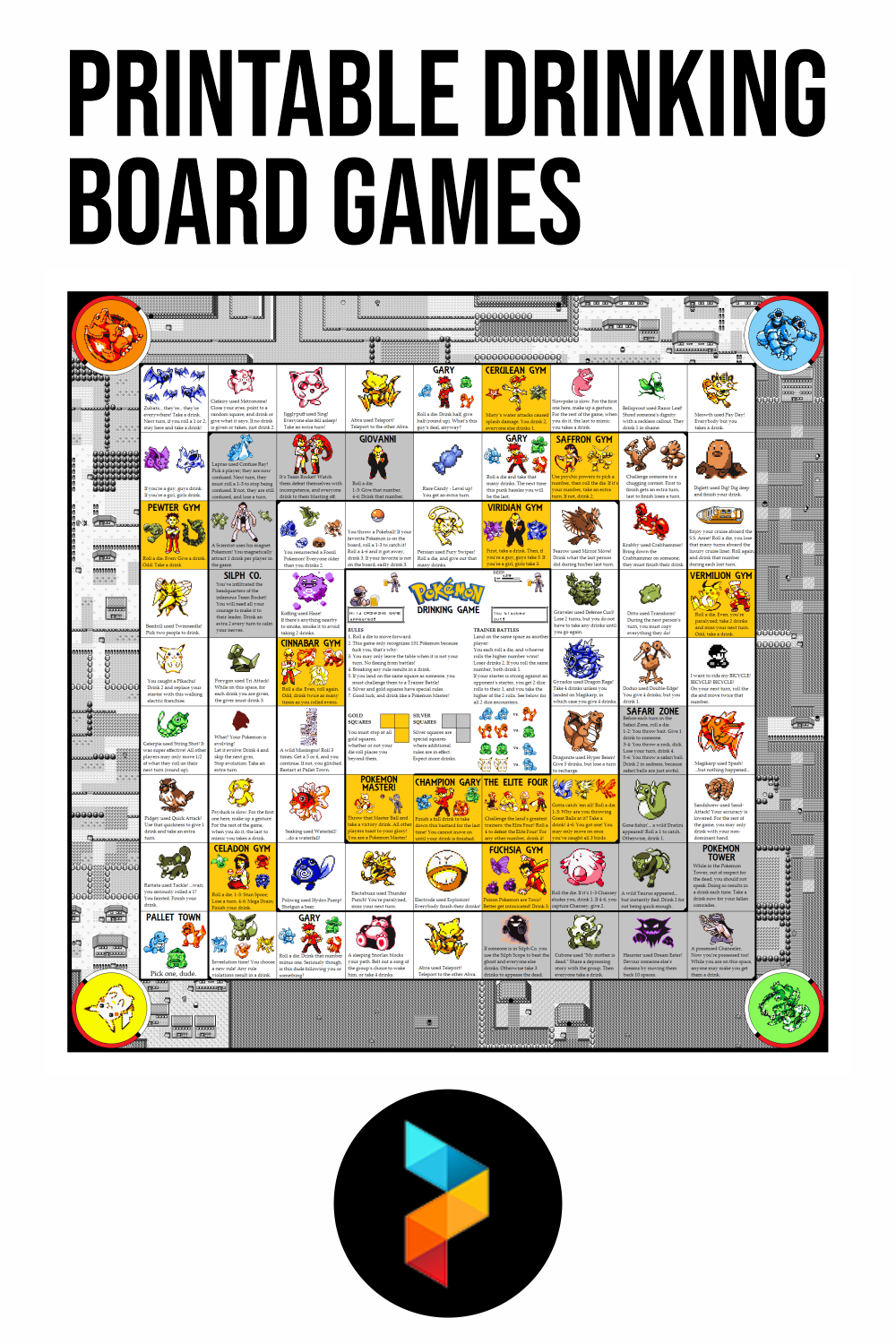 Printable Drinking Board Games