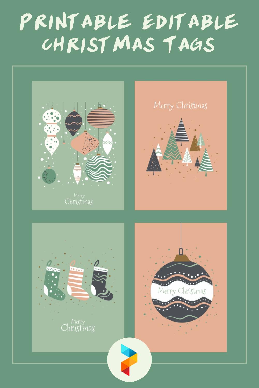 Printable Editable Christmas Tags