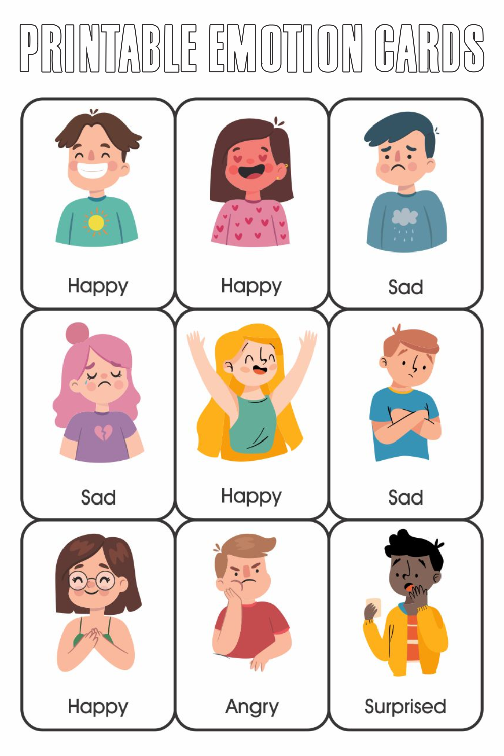 10 Best Printable Emotion Cards Printablee Com - View Printable Emotions Worksheets For Kindergarten Background