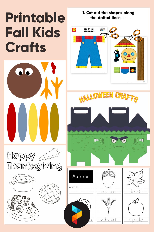 Printable Fall Kids Crafts