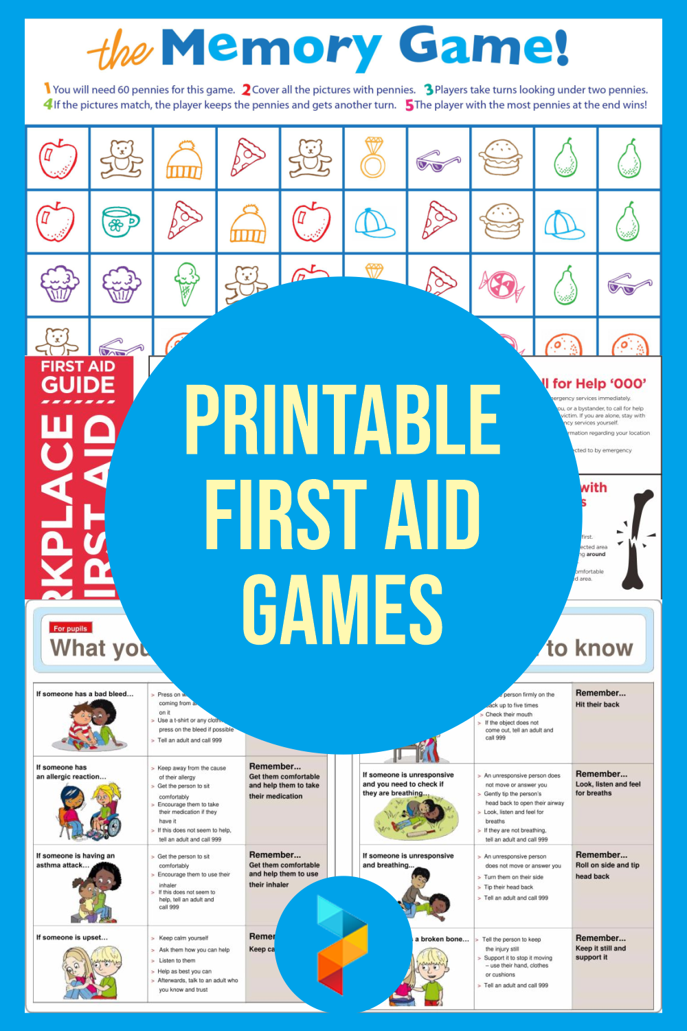 Printable First Aid Games