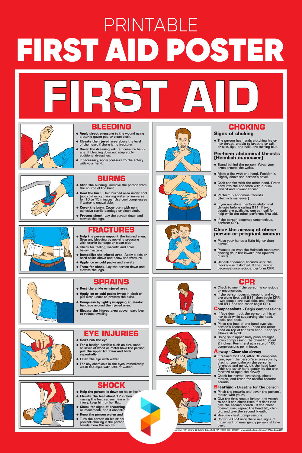 Printable First Aid Poster