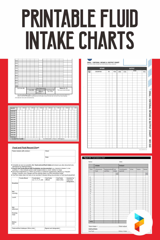 Printable Fluid Intake Charts