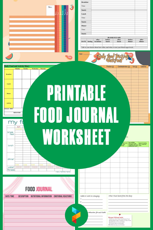 Printable Food Journal Worksheet