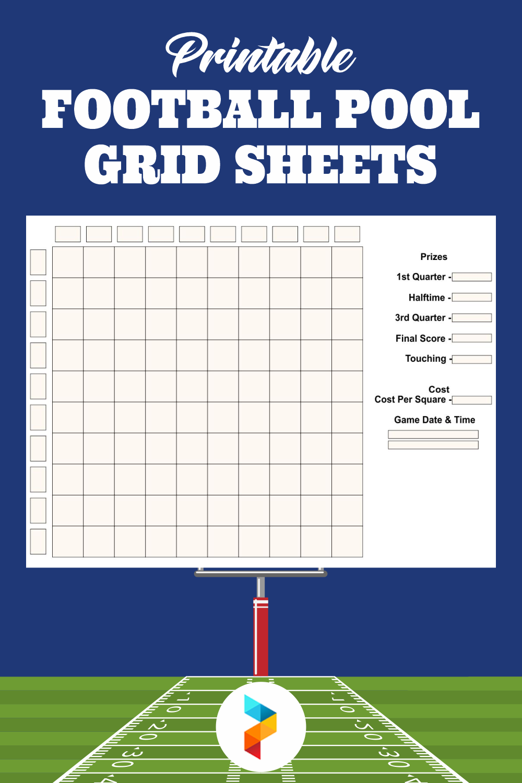 Printable Football Pool Grid Sheets