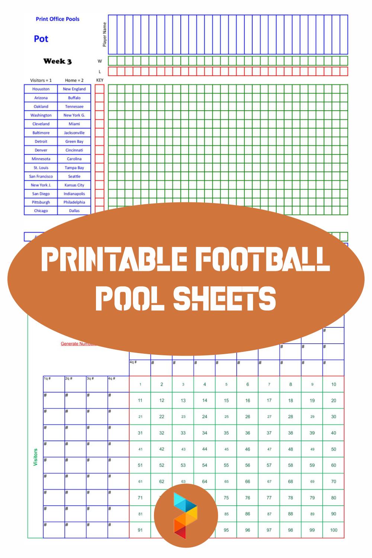 Printable Football Pool Sheets