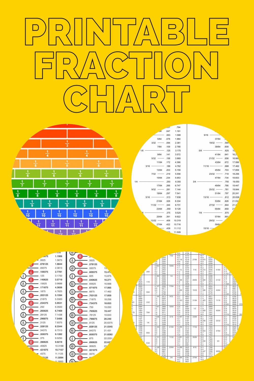 Printable Fraction Chart