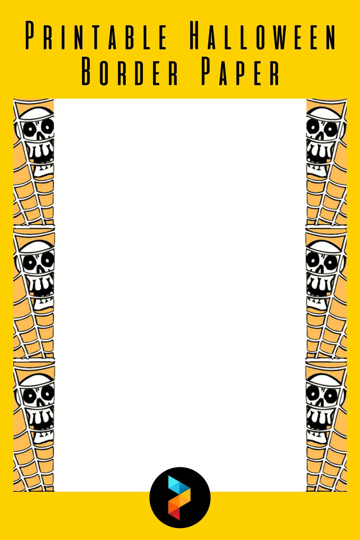 Printable Halloween Border Paper
