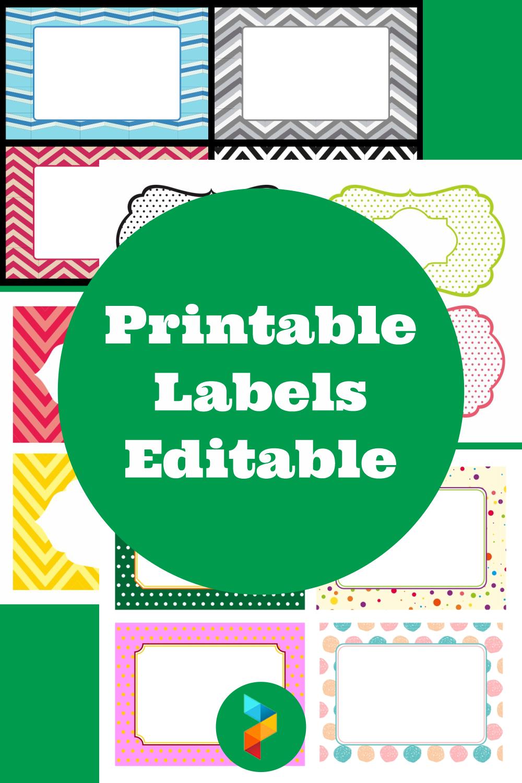 Printable Labels Editable