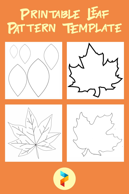 Printable Leaf Pattern Template
