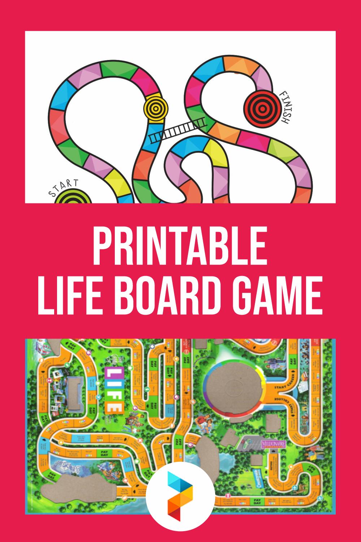Printable Life Board Game