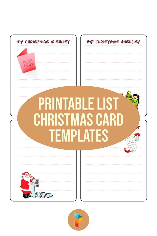 5 Best Printable List Christmas Card Templates Printablee Com