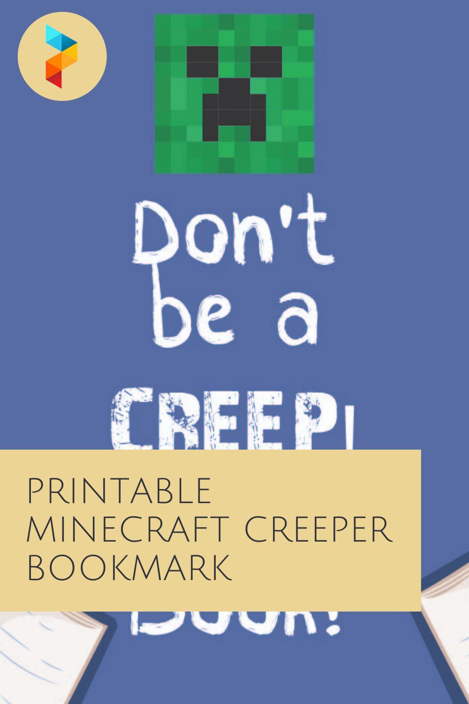 Printable Minecraft Creeper Bookmark