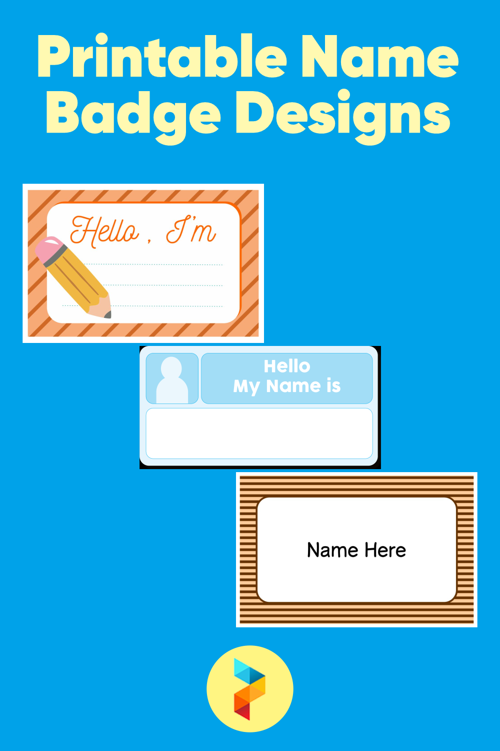 Printable Name Badge Designs