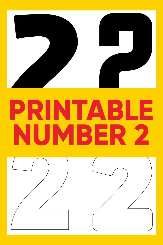 Printable Number 2