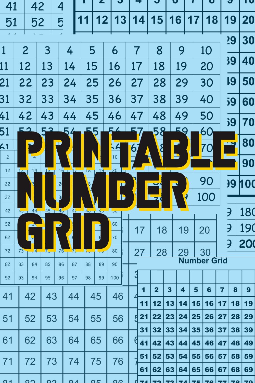 Printable Number Grid