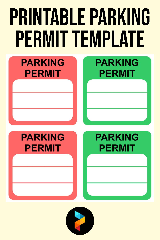 Printable Parking Permit Template
