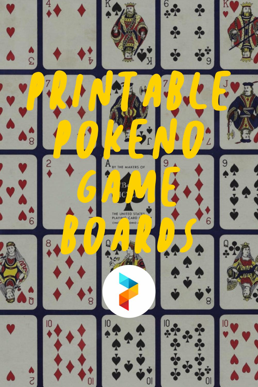 Printable Pokeno Game Boards