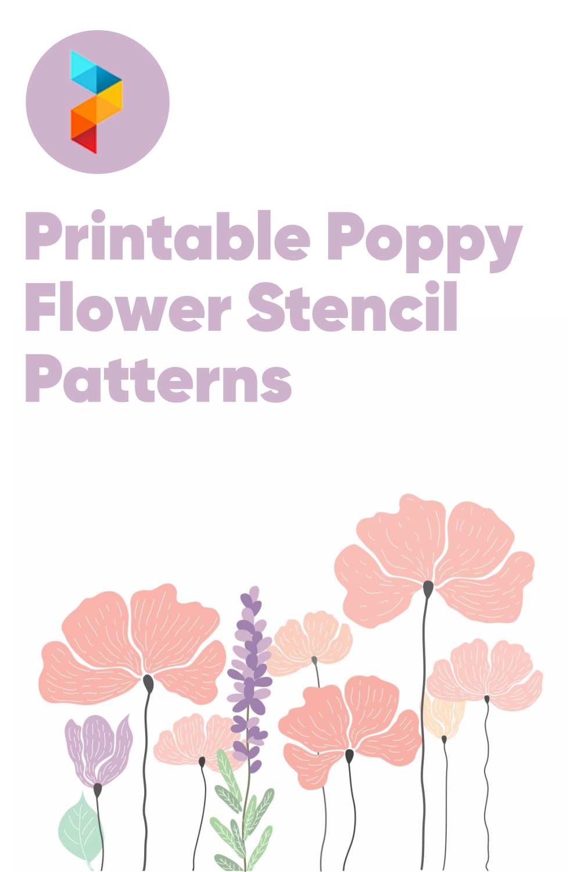 Printable Poppy Flower Stencil Patterns