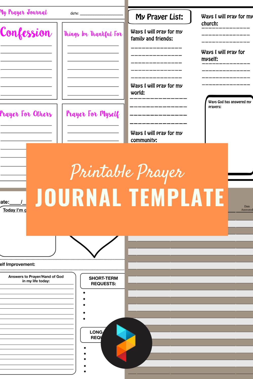 Printable Prayer Journal Template