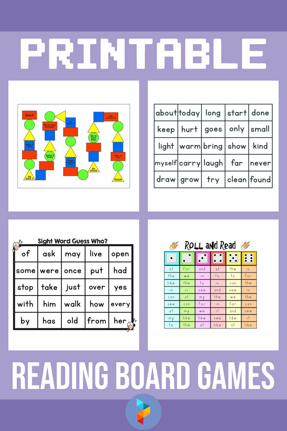 Printable Reading Board Games