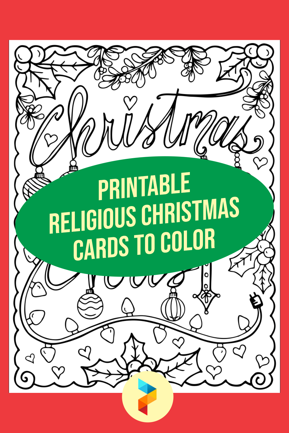 Printable Religious Christmas Cards To Color