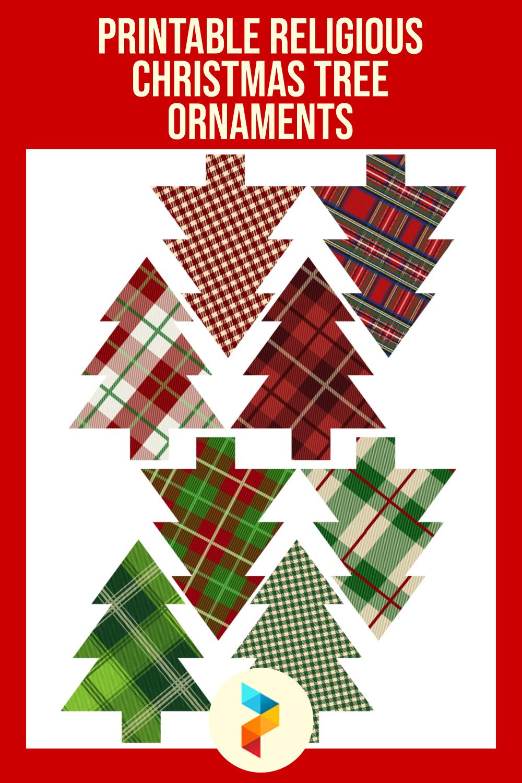 Printable Religious Christmas Tree Ornaments