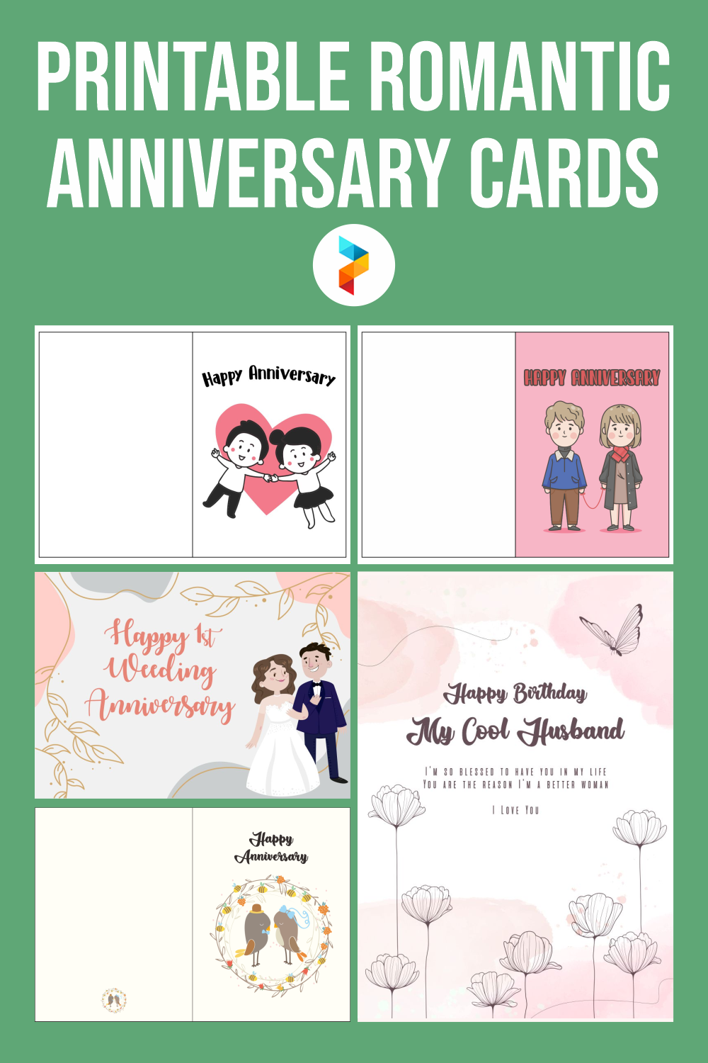 Printable Romantic Anniversary Cards