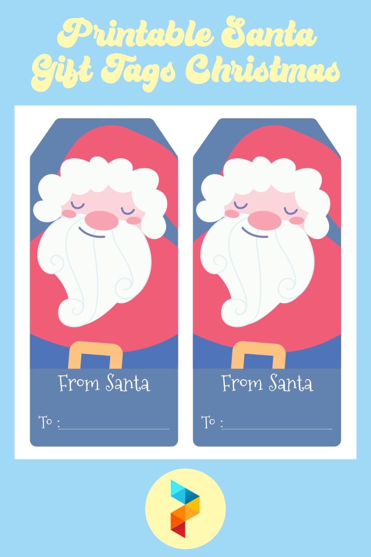 Printable Santa Gift Tags Christmas