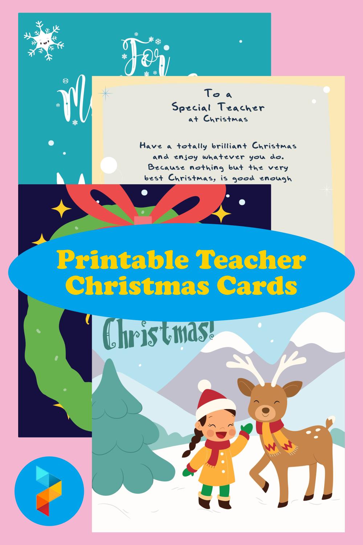 Printable Teacher Christmas Cards