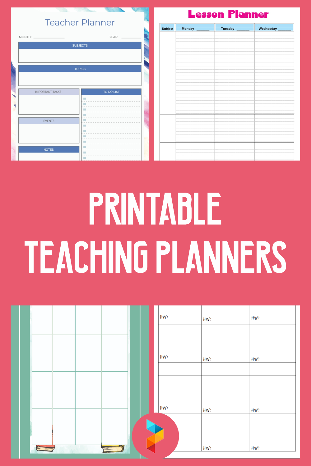 Printable Teaching Planners