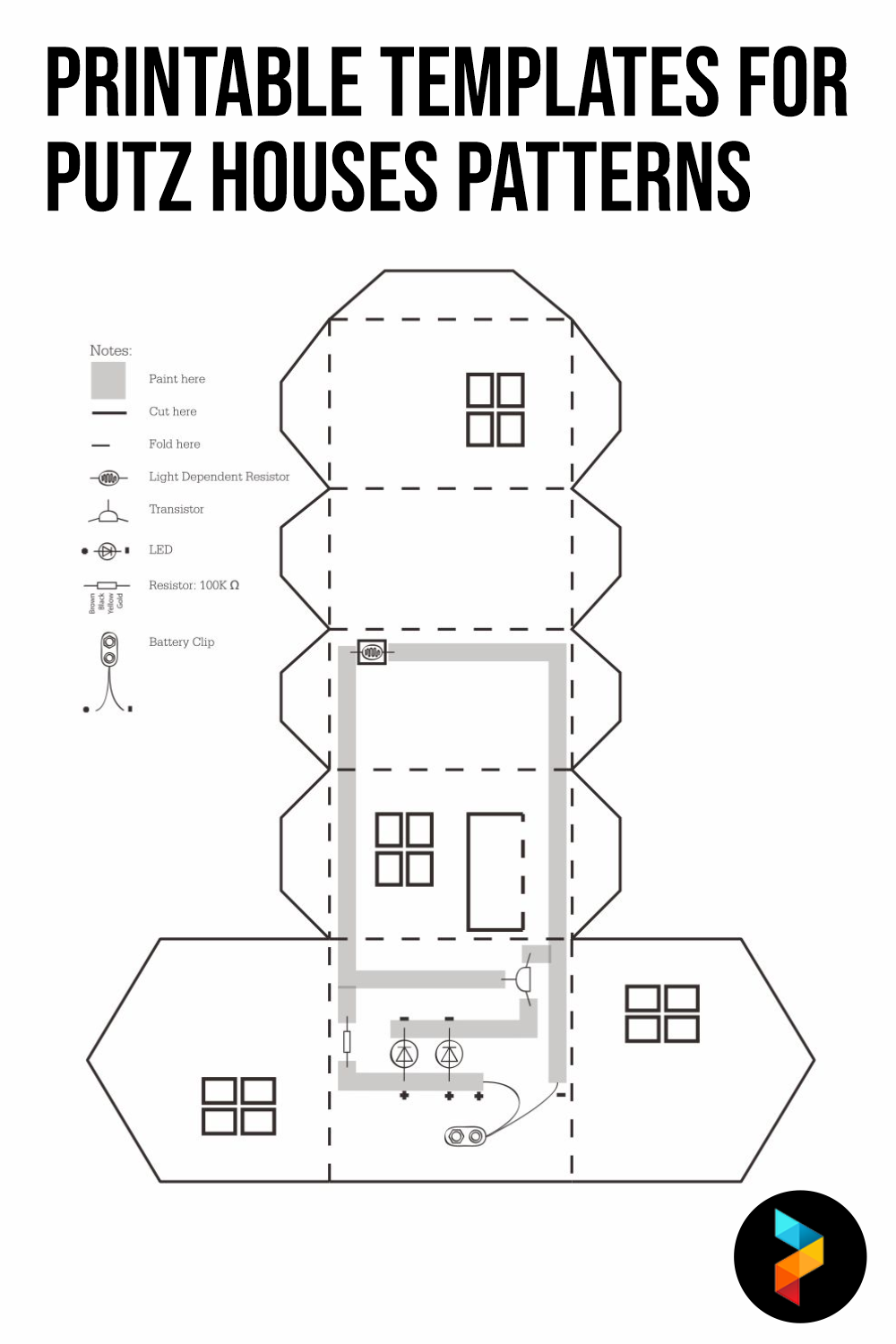 Printable Templates For Putz Houses Patterns