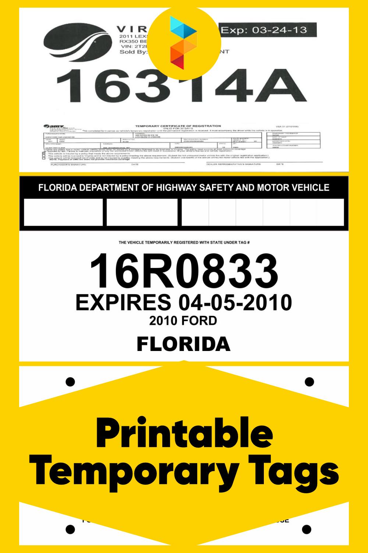 Printable Temporary Tags