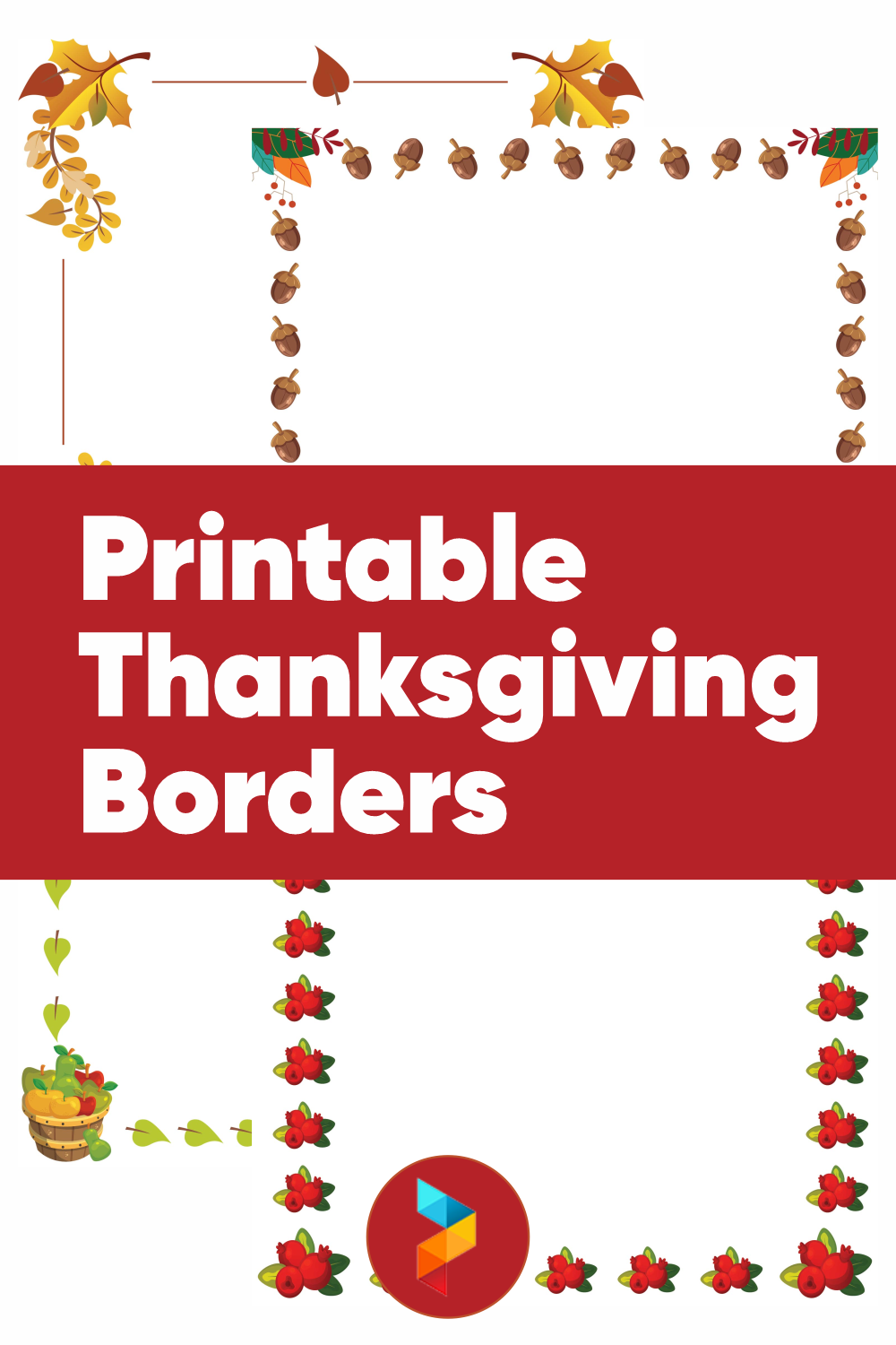Printable Thanksgiving Borders
