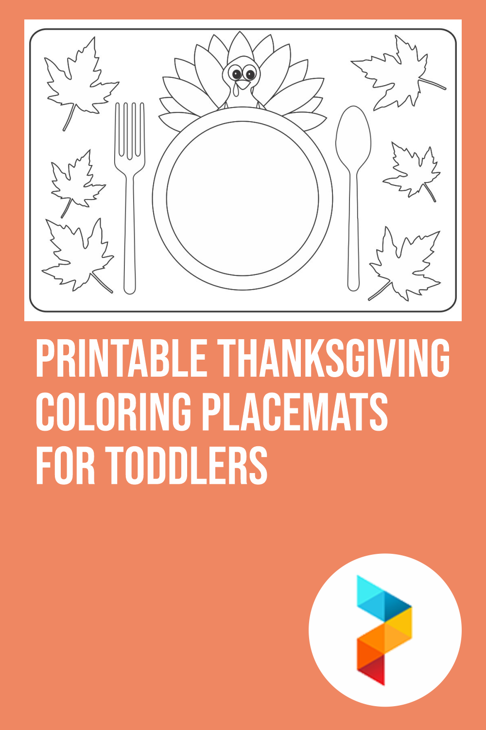 Printable Thanksgiving Coloring Placemats For Toddlers