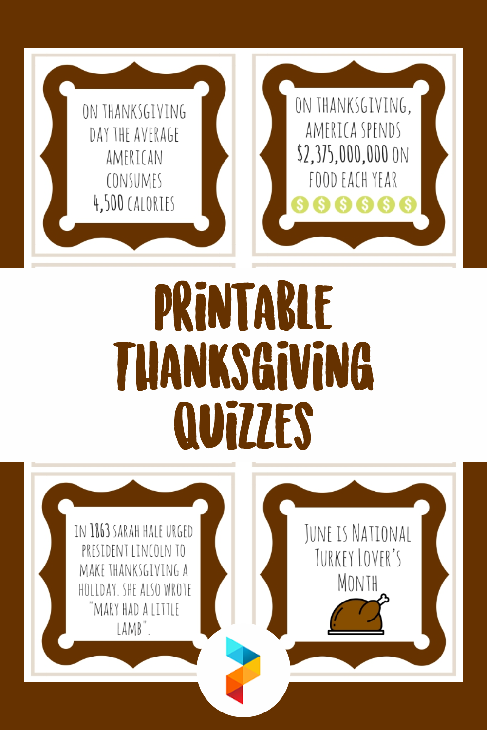 Printable Thanksgiving Quizzes