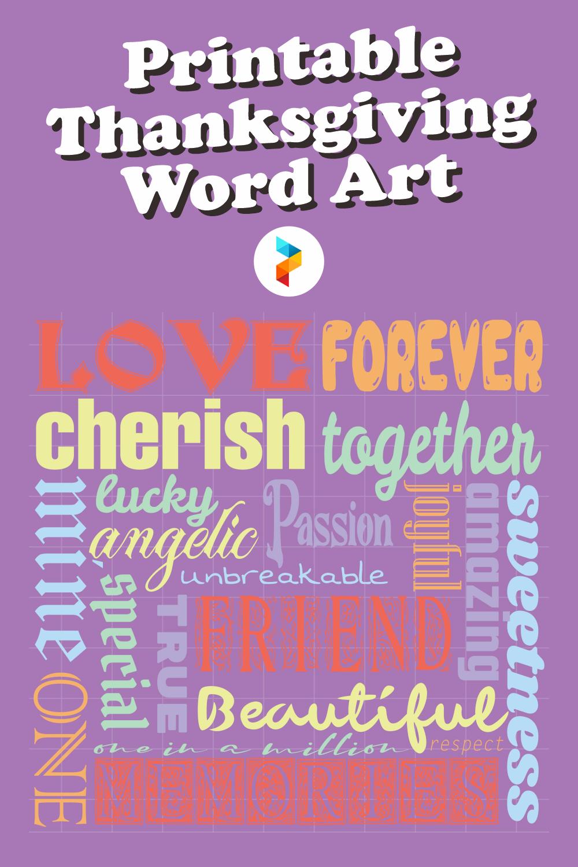 Printable Thanksgiving Word Art